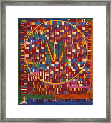 Transformation Of The Black World Framed Print by Babelis Vytautas