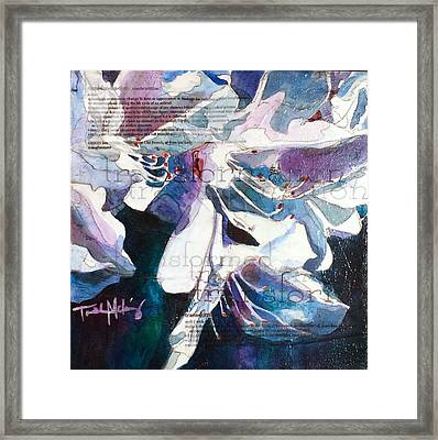 Transformation - White Azalea Framed Print by Trish McKinney