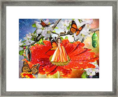 Transformed By Love  Framed Print by Dolores Develde