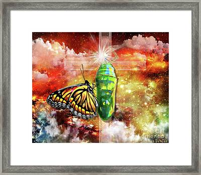 Transformed By The Truth Framed Print by Dolores Develde