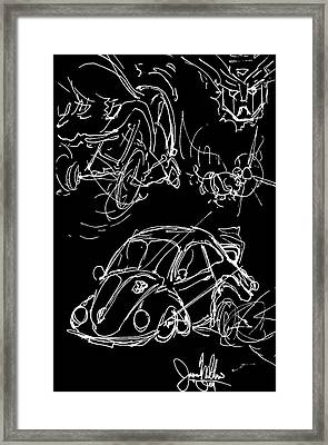 Transformers Bumblebee Vw Bug Framed Print by Jason Williams