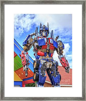 Transformers Optimus Prime Or Orion Pax Framed Print by Edward Fielding