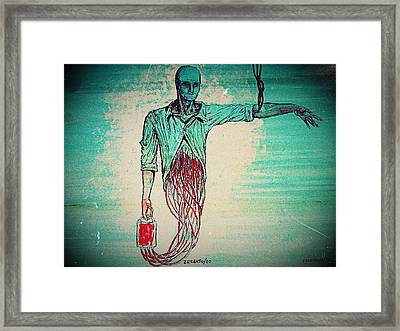 Transfusion Uninterrupted Framed Print by Paulo Zerbato