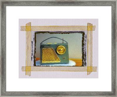 Transistor Radio Framed Print by Dominic Piperata
