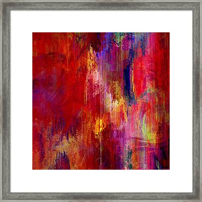 Transition - Abstract Art Framed Print by Jaison Cianelli