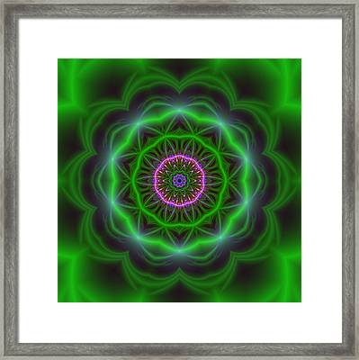 Transition Flower 10 Beats Framed Print