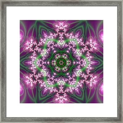 Framed Print featuring the digital art Transition Flower 6 Beats 4 by Robert Thalmeier