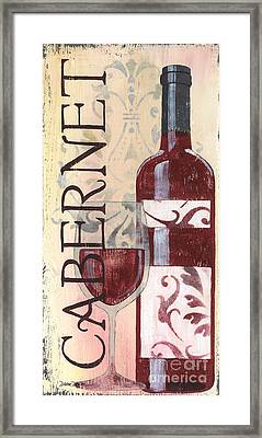 Transitional Wine Cabernet Framed Print by Debbie DeWitt