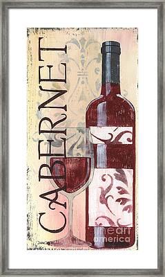 Transitional Wine Cabernet Framed Print