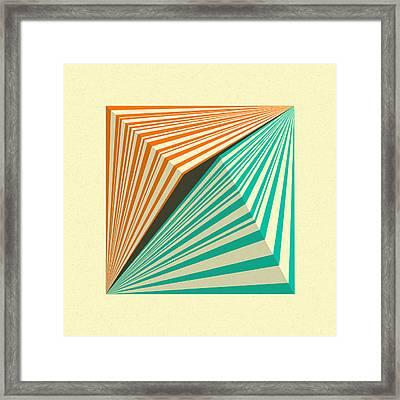 Transmission 5 Framed Print by Jazzberry Blue