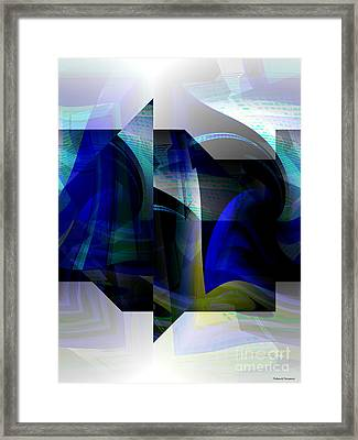 Geometric Transparency  Framed Print by Thibault Toussaint