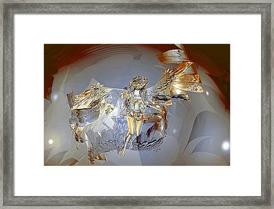 Transparent Angel Framed Print