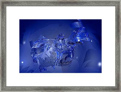 Transparent Blue Angel Framed Print
