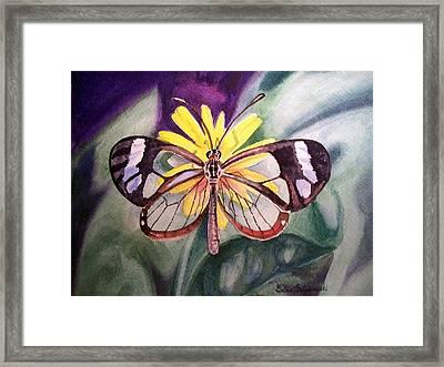 Transparent Butterfly Framed Print by Irina Sztukowski