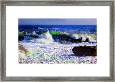 Transparent Wave Framed Print