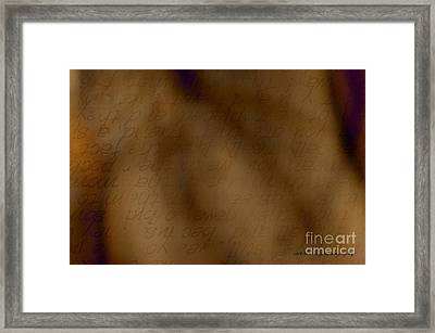 Transparent Words Framed Print