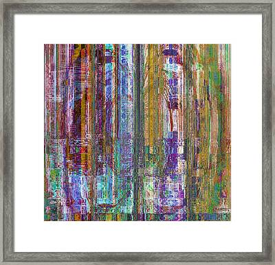 Framed Print featuring the painting Transpire by Fania Simon