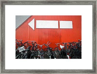 Transportation And Direction Framed Print