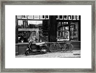 Transportation Choice Mono Framed Print