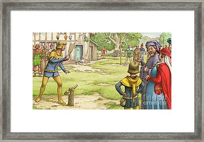 Trap Ball Framed Print by Pat Nicolle