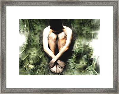 Traped Man Framed Print by Naikos N