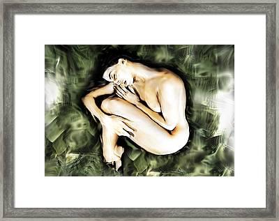Traped Woman Framed Print by Naikos N