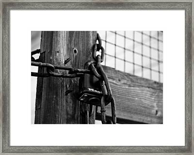 Trapped Framed Print by Edward Myers