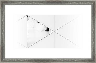 Trapped In A Mirror. Framed Print by Greetje Van Son