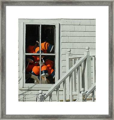 Trapped Framed Print by Mace