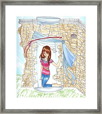 Trapped Framed Print by Shelby Davis
