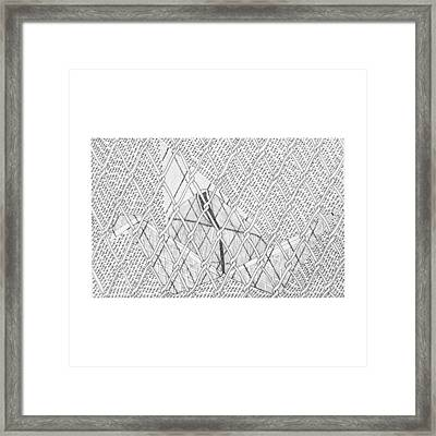 Trapped Crane Series  Framed Print