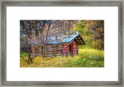 Trappers Cabin Framed Print