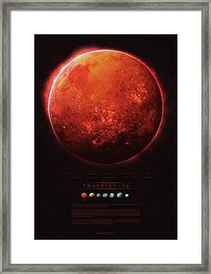 Trappist-1b Framed Print by Guillem H Pongiluppi