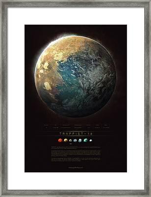 Trappist-1d Framed Print by Guillem H Pongiluppi