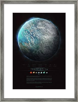 Trappist-1e Framed Print by Guillem H Pongiluppi