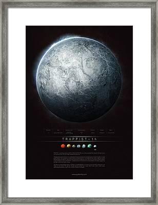 Trappist-1h Framed Print by Guillem H Pongiluppi