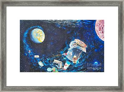We Loved Earth At One Time - Yes We Did. Framed Print