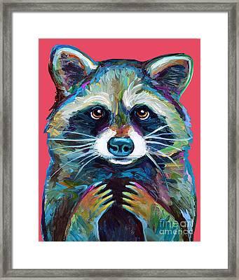 Trash Panda Framed Print