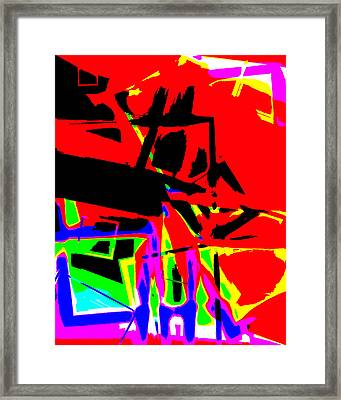 Framed Print featuring the digital art Trator Crash by Lola Connelly