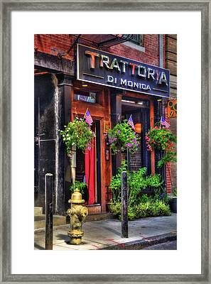 Trattoria Di Monica - North End - Boston Framed Print