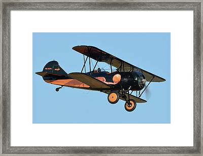 Travel Air D-4-d Nc472n Chino California April 29 2016 Framed Print by Brian Lockett