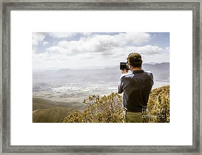 Travel And Technology Man Framed Print by Jorgo Photography - Wall Art Gallery