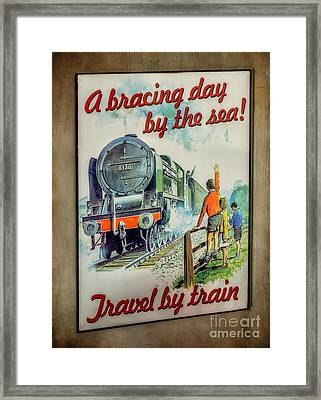 Travel By Train Framed Print by Adrian Evans