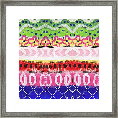 Southwest Jubilee- Art By Linda Woods Framed Print