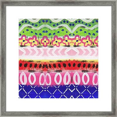 Painted Pattern 1- Art By Linda Woods Framed Print by Linda Woods