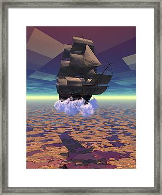 Travel In Another Dimension Framed Print by Claude McCoy