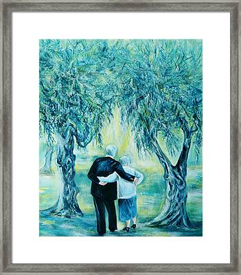Travel Notebook.olive Groves Framed Print by Anna  Duyunova