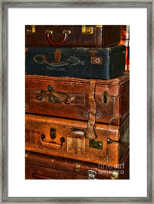 Travel - Old Bags Framed Print by Paul Ward