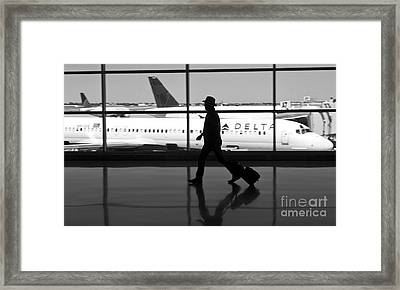 Travel On Delta Airlines In Indianapolis Framed Print by ELITE IMAGE photography By Chad McDermott