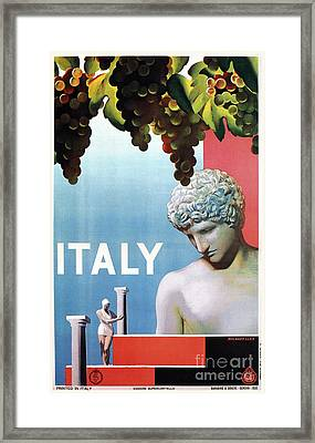 Travel To Italy In 1935 Framed Print
